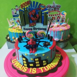 Birthday Cake Karakter Kue Ulang Tahun Karakter Spiderman Shopee Indonesia