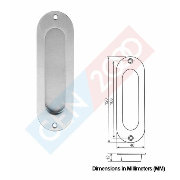 Sliding Door Handles >> Comen Oval Door Handle Pintu Tanam Pintu Sliding Handel Pintu Tanam Oval Stainless