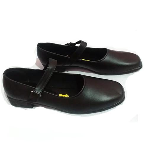 Sepatu Pantofel Wanita Hitam Hak 3 Cm Cewek Sekolah Kantor