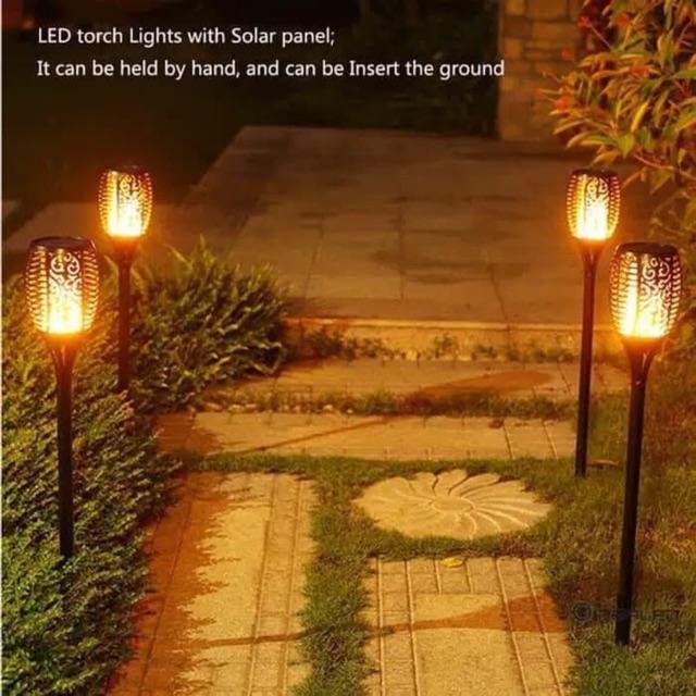 Lampu Obor Api Led Lampu Taman Tenaga Surya Lampu Taman Solar Cell Lampu Obor Api Tancap Lampu Hias Shopee Indonesia