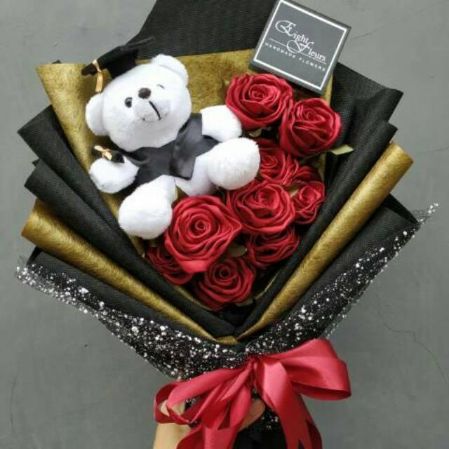 Buket Bunga Satin Boneka Wisuda Preorder 2hari Shopee Indonesia