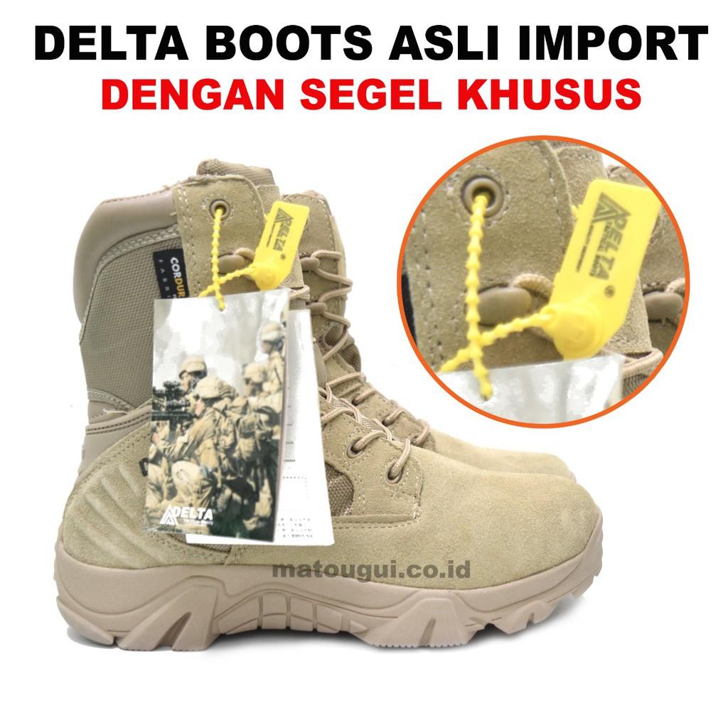 Sepatu Delta Force Elite Boots 516 Cokelat 8 Inch Militer   Sepatu Gunung    Hiking   Army  fac5e189c2