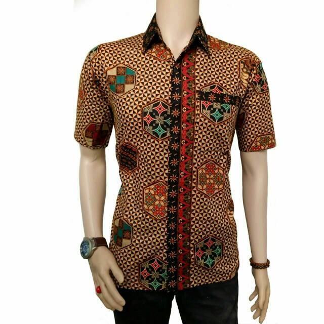 Kemeja batik pria lengan panjang motif manggar ddd8cb555f