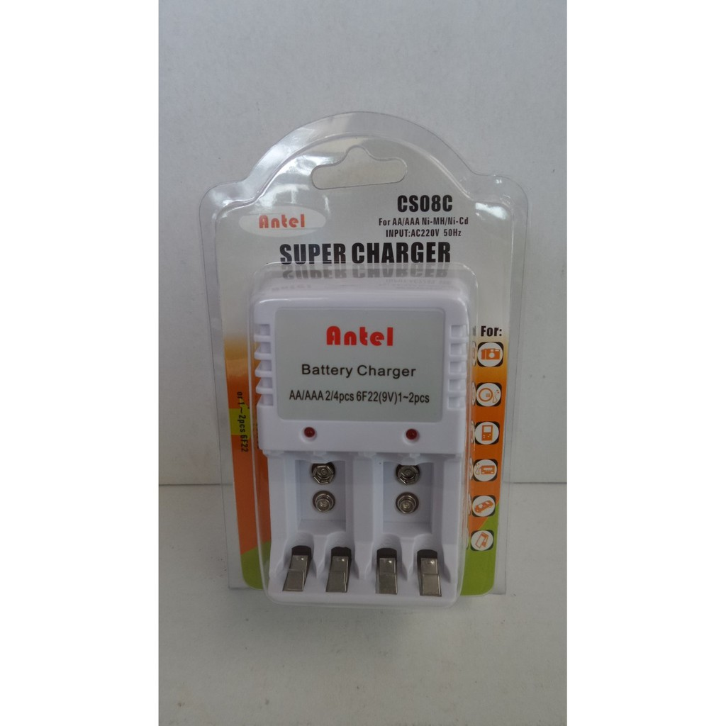 Charger Baterai Isi 2 Pcs Aa Aaa Kotak 9v Antel Universal Charge Abc Super Power 2pcs Batre Battery Shopee Indonesia