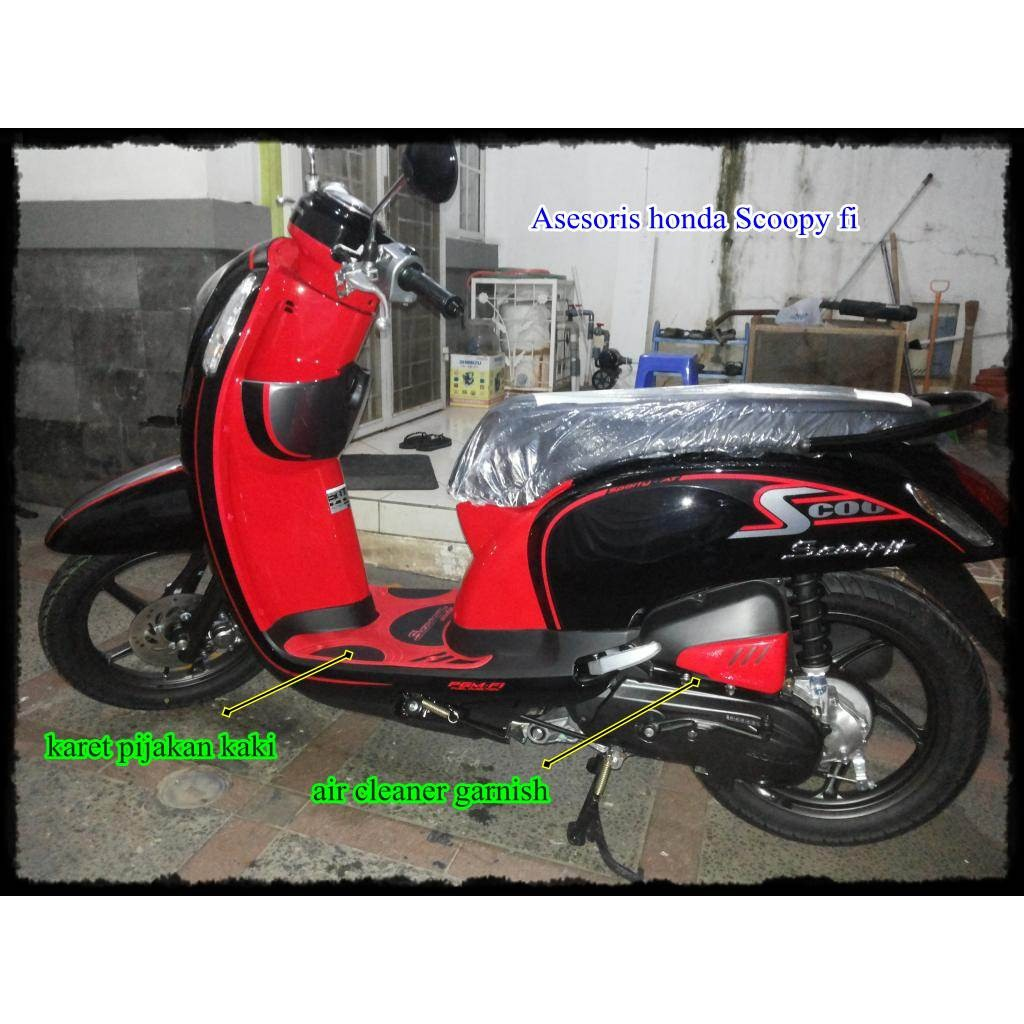 Paket Aksesoris Garnish Chrome New Honda Scoopy Fi Esp Ori All Sporty White Shopee Indonesia