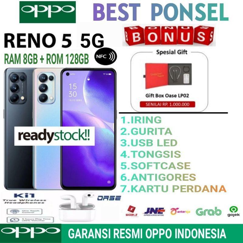 OPPO RENO 5 5G RAM 8/128 GB GARANSI RESMI OPPO INDONESIA