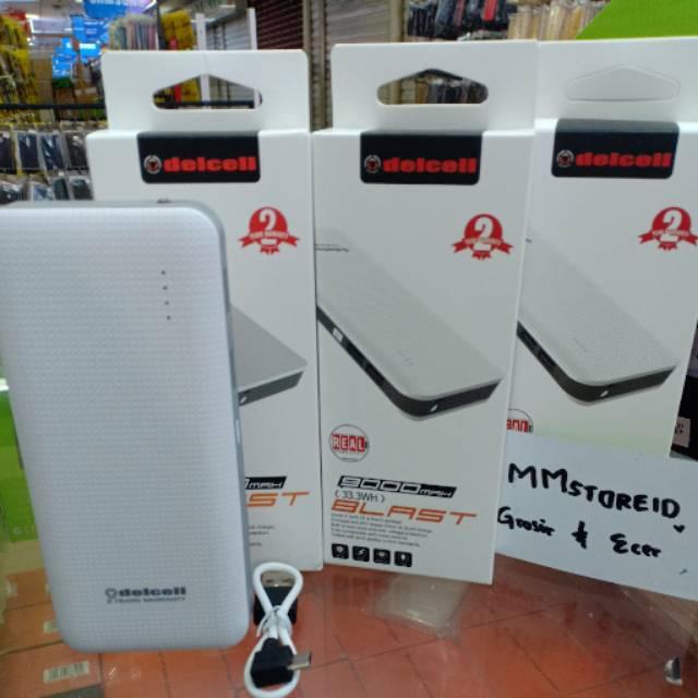 Powerbank delcell 9000mah blash real capacity original / power bank delcell 9000mah garansi 2 tahun
