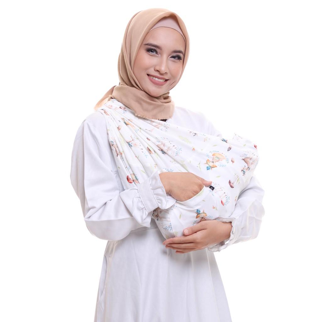 Geos Yellow Dino Instant Baby Wrap Printed Premium Fabric Bayikuid 2in1 Instan Shopee Indonesia