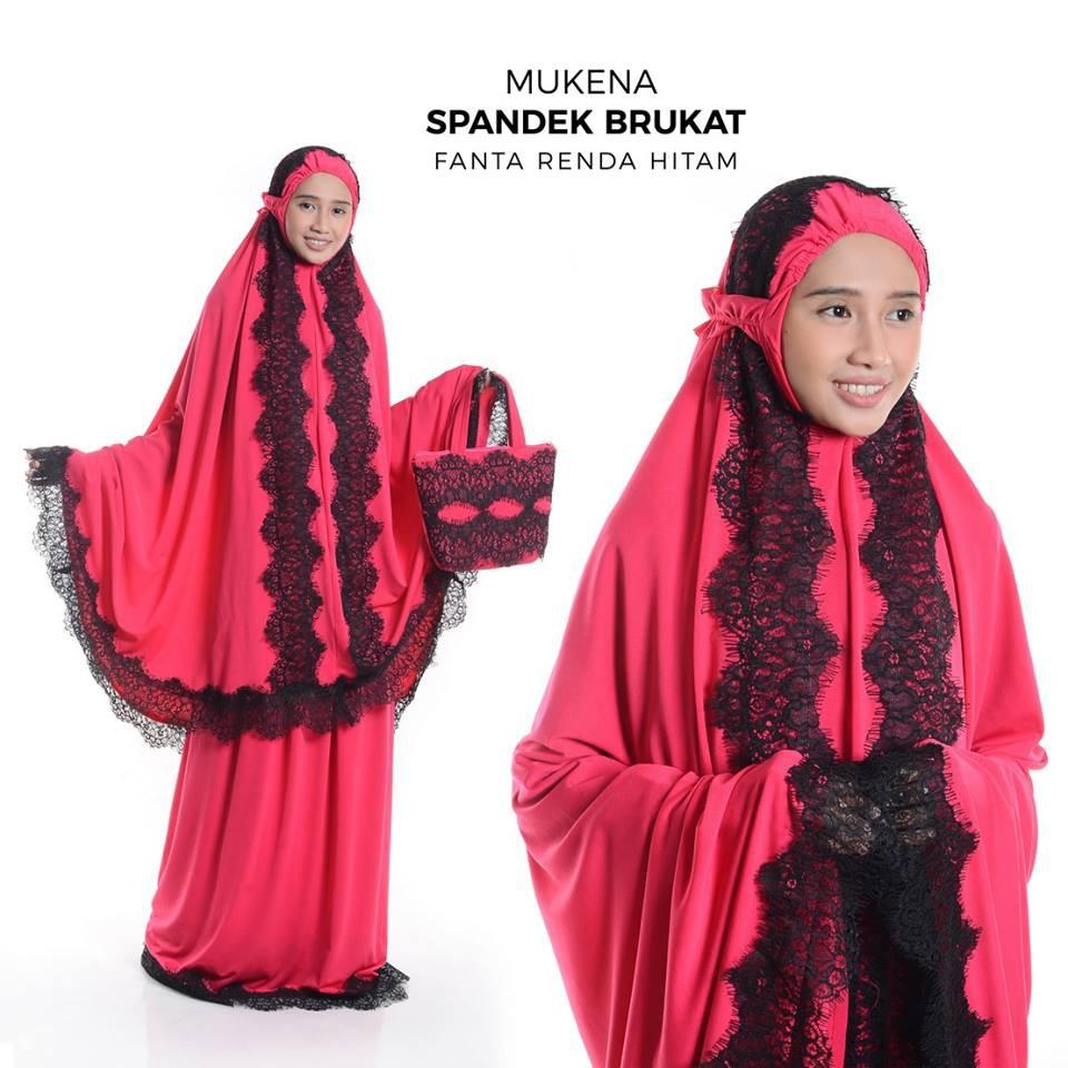 Mukena SPANDEK BRUKAT ARAFAH Dewasa-Bahan Spandek Sutra-Mukenah CantikModern- Ririe Fashion Mukenah   Shopee Indonesia