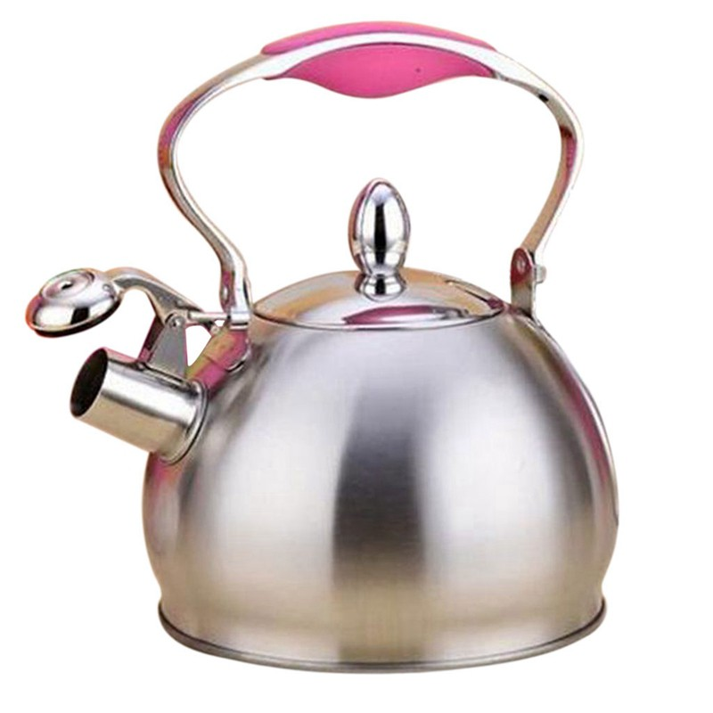 Sturdy Whistling Kettle Camping Kitchen Tea Coffee Water Pot anti-hot Handle