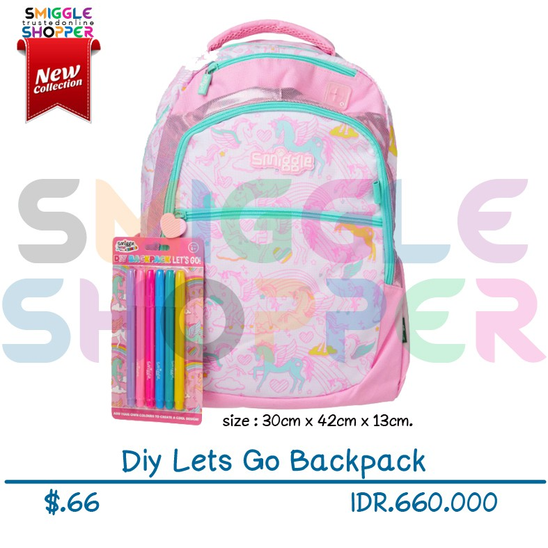fb6c09d74486 Smiggle Yay Backpack Pink