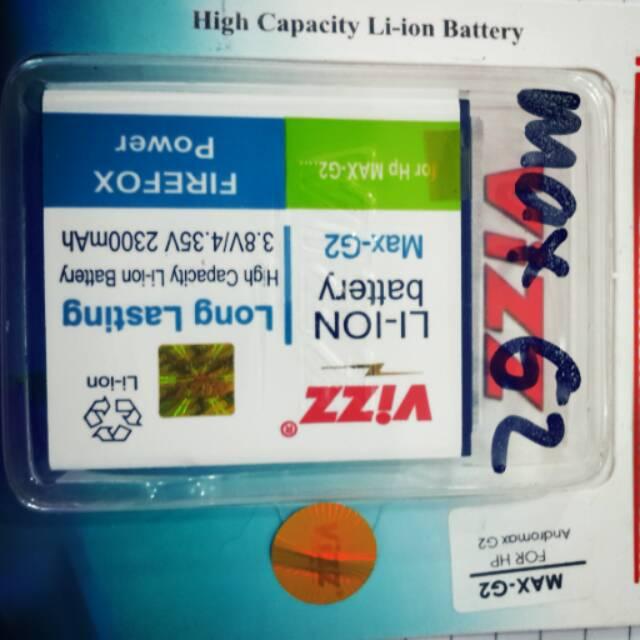 Baterai batt batre battery double power vizz smartfren andromax qi dan e2+ plus | Shopee Indonesia