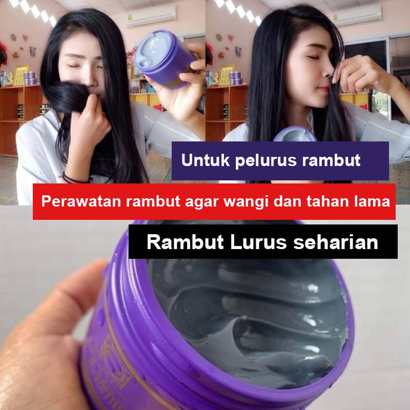 BPOM Lae Sa Luay Supreme Charcoal Smooth Shampoo / Shampo Kondisioner 200ml-3