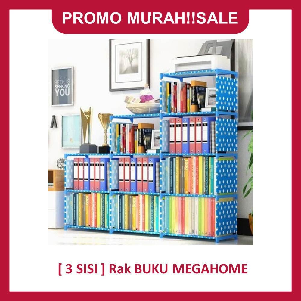 Promo Bulan Ini Rak Portable Serbaguna 5 Susun 3 Sisi Buku Minimalis Multifungsi Organizerro