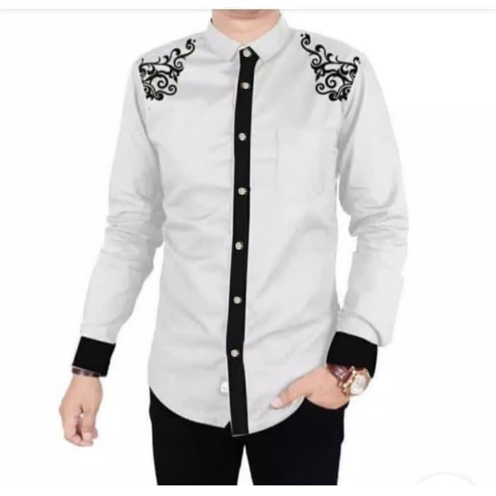 RABBANI MEN -KOKO IRFAN WHITE Baju Muslim Pria Kemeja Koko Lengan Pendek Linen Original Lebaran 2020