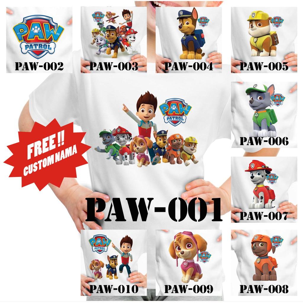 free nama  kaos anak paw patrol  shopee indonesia