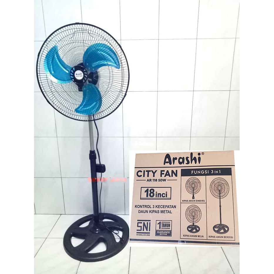 Kipas Angin Arashi Multifungsi AR 118 SDW Cyclone 3 in 1 | Shopee Indonesia