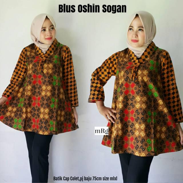 Blus Batik Wanita Blus Batik Wanita Modern Baju Atasan Kerja Batik Kerja Modern Batik Wanita