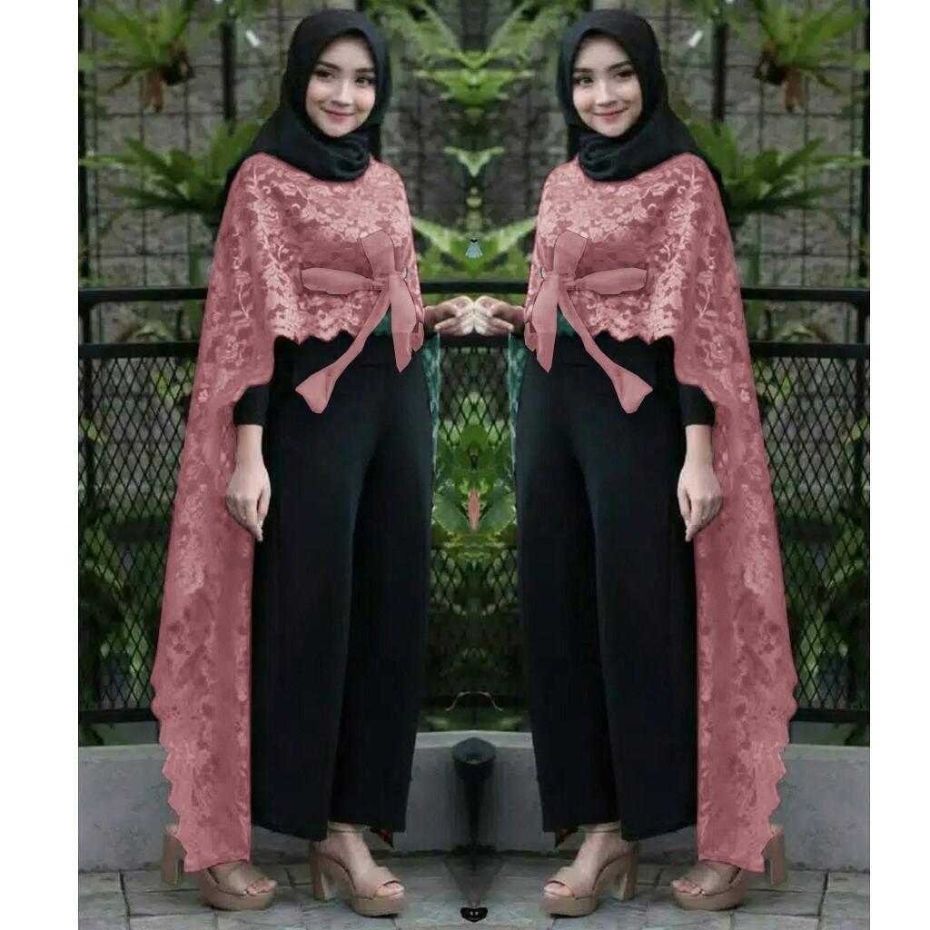 Damai fashion jakarta - dress muslim wanita CASANDRA salur - konveksi murah baju tanah abang  