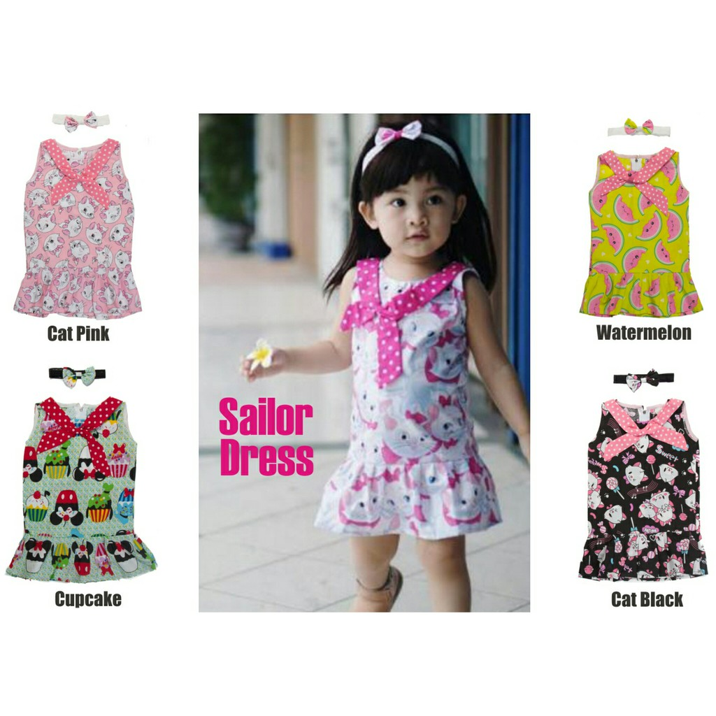Macbee Kids Baju Anak Dress Sailor Laura Shopee Indonesia Size 3 Navy