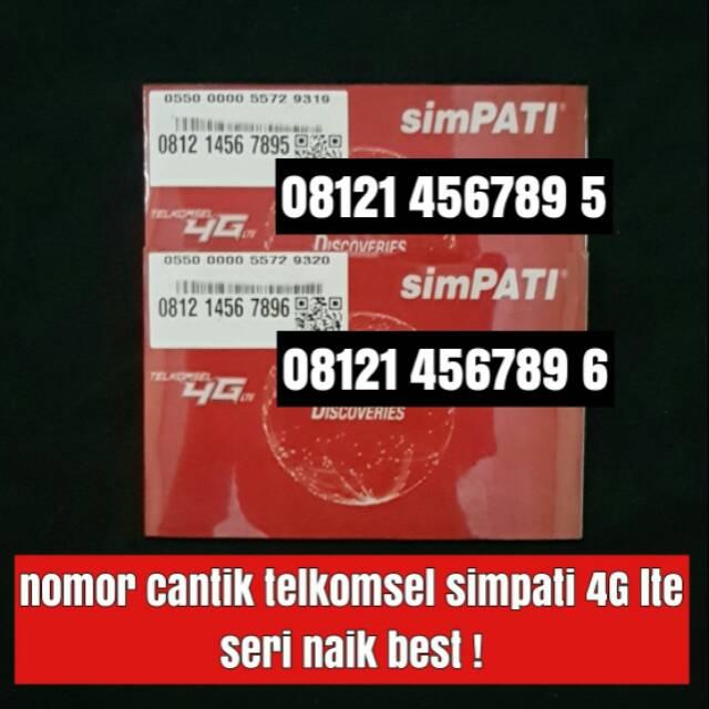 nomer cantik seri tahun simpati telkomsel nomor kartu perdana 4G lte   Shopee Indonesia