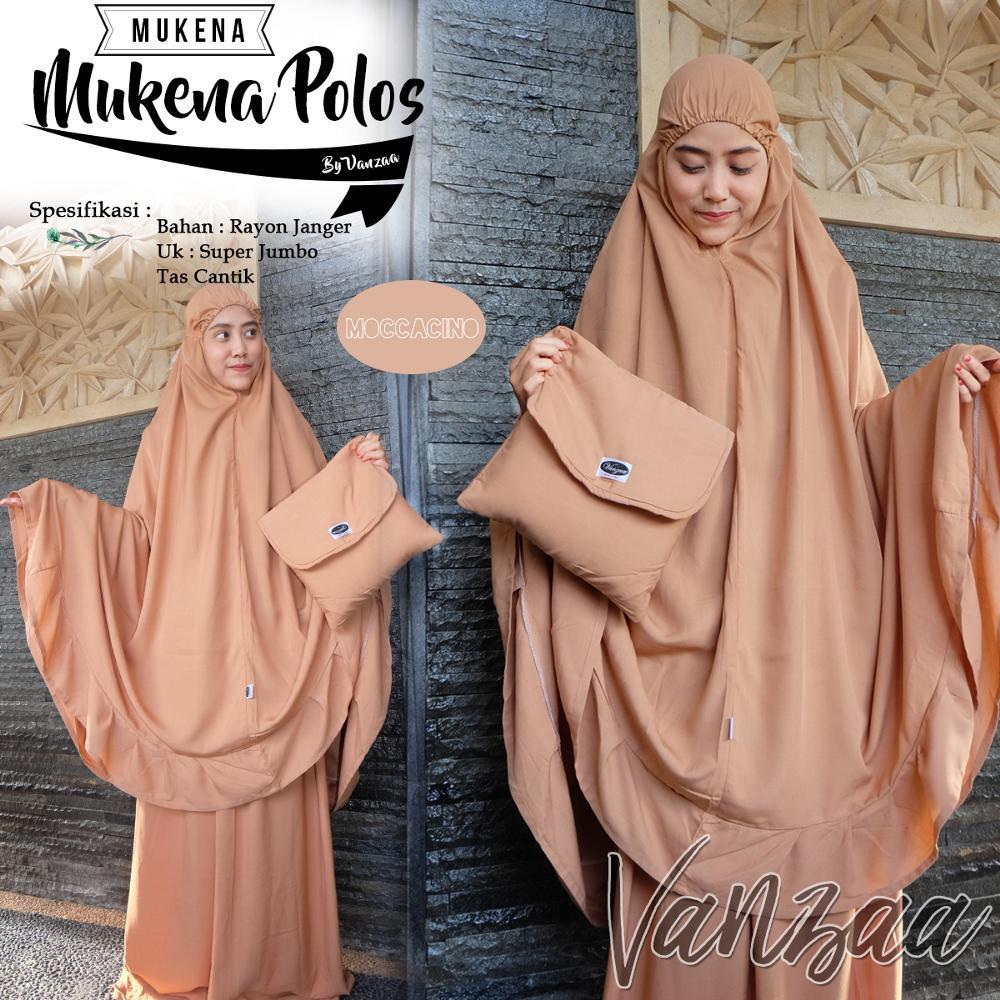 Mukena Mukenah Polos Original Vanzaa Bali Shopee Indonesia Jumbo Cinde