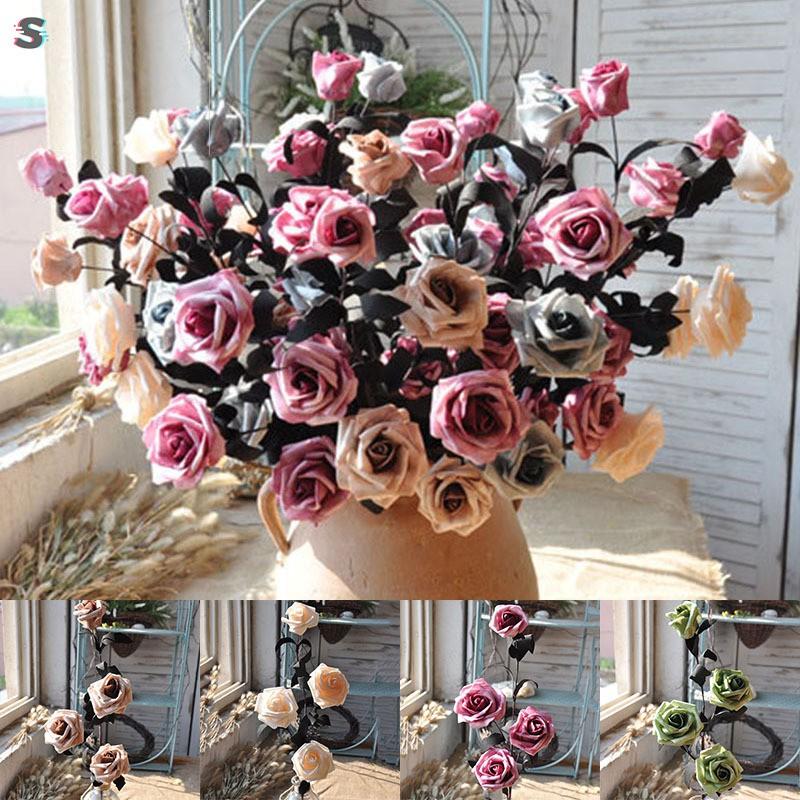 Buket Bunga Mawar Imitasi Vintage Untuk Rumah Kantor Pernikahan Shopee Indonesia