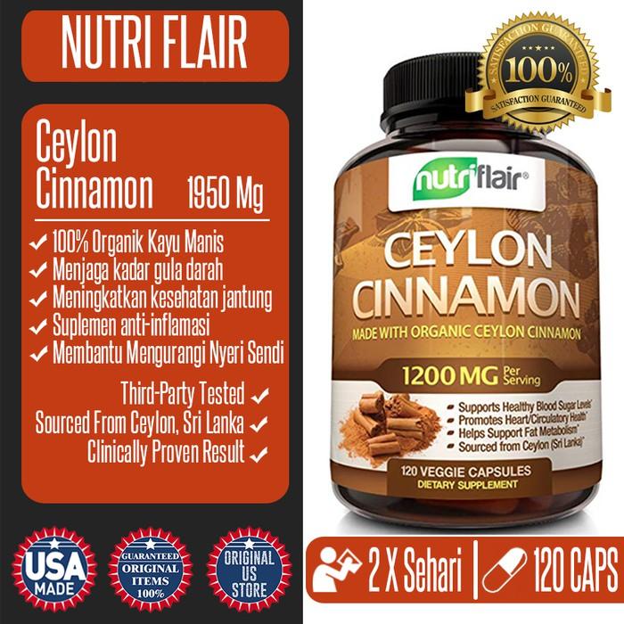 NutriFlair Ceylon Cinnamon 1950Mg