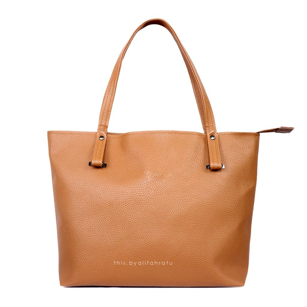 Tas Wanita MELBEE Tote Bag - Brown | Shopee Indonesia