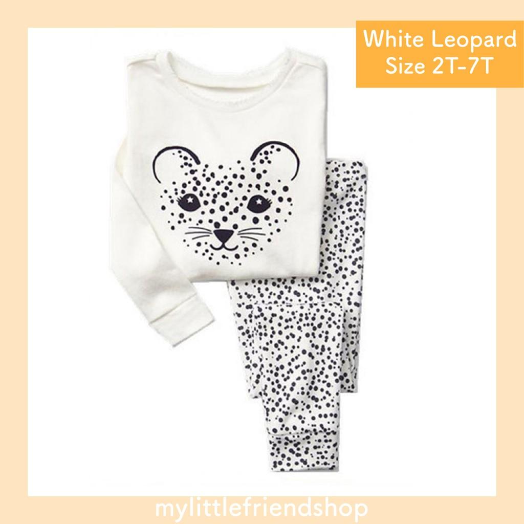 Piyama Anak Tangan Panjang   Gap HK   White Leopard  b97d22db3a