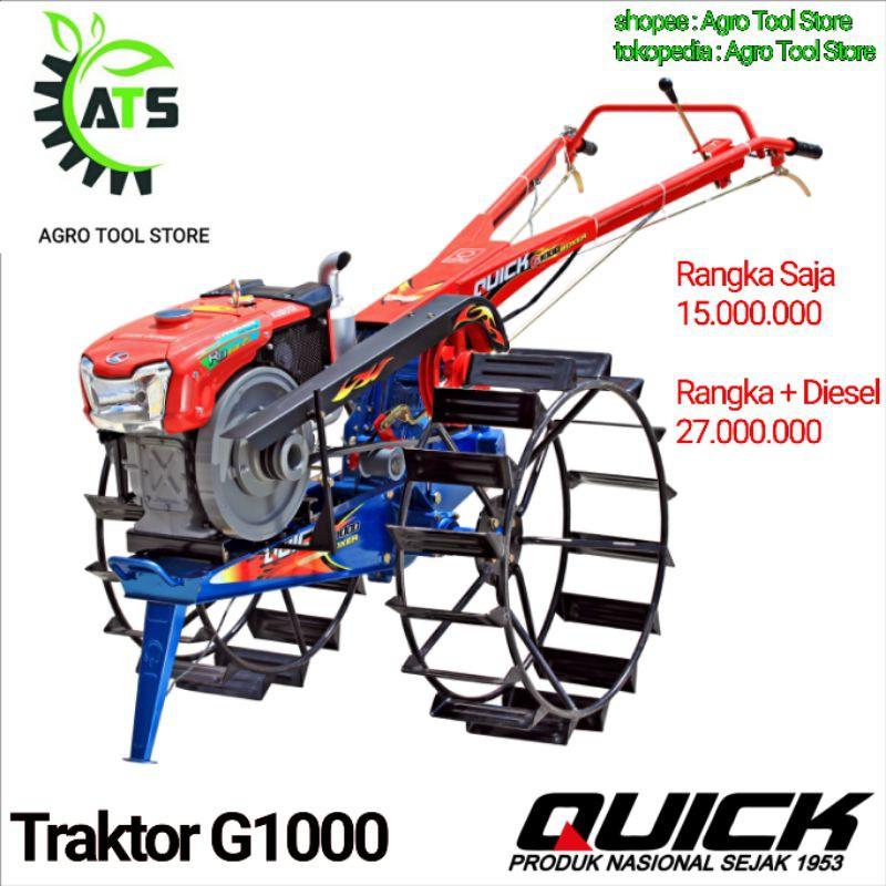 Traktor Bajak Sawah Quick G1000 Boxer G 1000 Lengkap Siap Pakai Diesel Kubota Roda Pisau