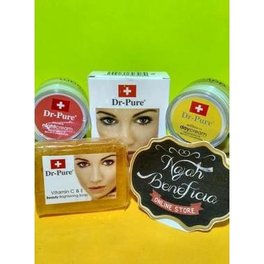 Krim siang malam Dr Pure 3 in 1 day night Cream and whitening soap ORIGINAL  