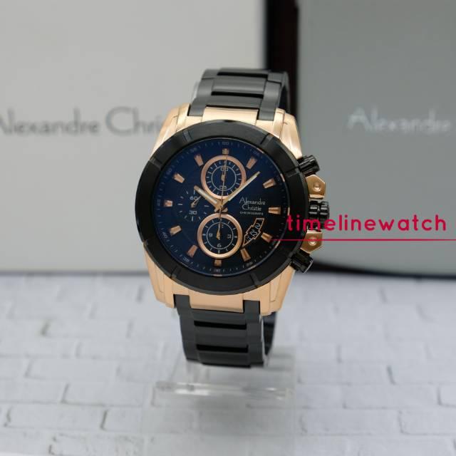 Alexandre Christie ac 6226 mc black rosegold original garansi resmi