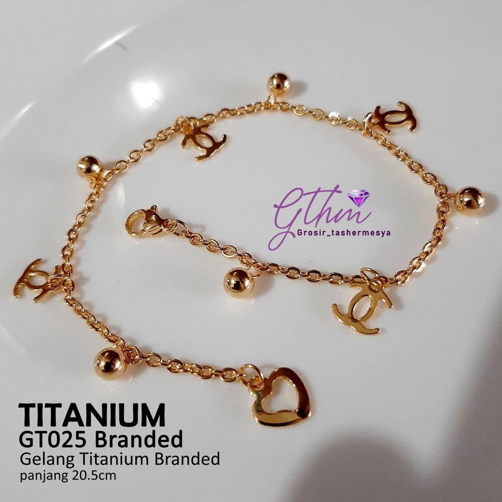 Gelang tangan Titanium wanita Branded Perhiasan Fashion ...