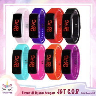 TU88 Jam Tangan LED Karet Sport Watch Jam Tangan Digital Olahraga Wanita Korea Rubber Fashion - J015