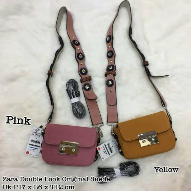 Tas Zara Double Look Original Ready 2 Warna Bahan Suede  1453b48c61