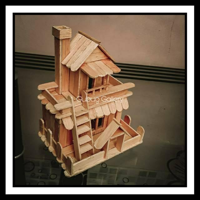 Kerajinan Tangan Miniatur Rumah Stik Es Krim Shopee Indonesia