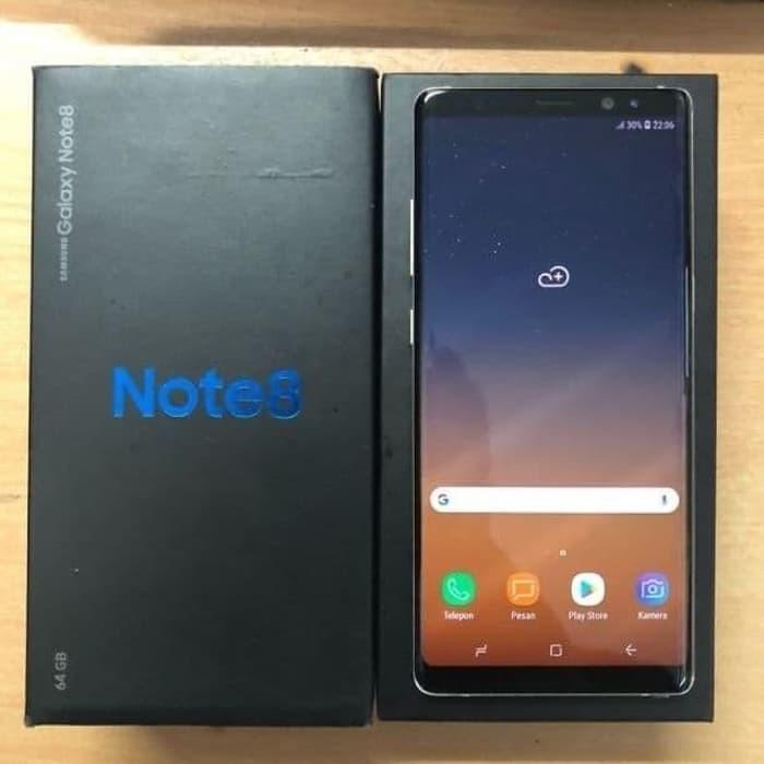 [Handphone Second] Samsung Note 8 - Second Black HP Bekas