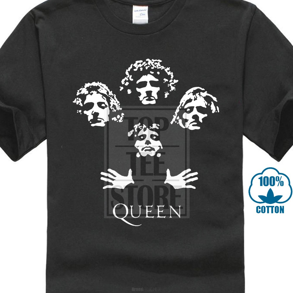 Queen Freddie Mercury Bohemian Rhapsody Gildan T-Shirt Black Size S-3XL