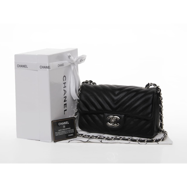 JUAL TAS CHANEL CAVIAR WOC BLACK WITH BOX MIRROR QUALITY 1 1 ORIGINAL  ......  9b8fac3c5a