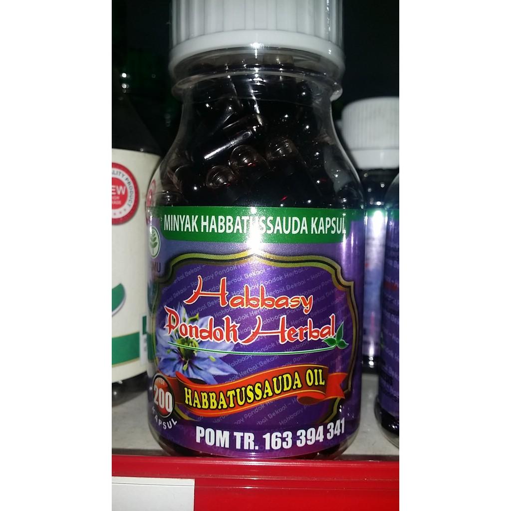 Minyak Habbatussauda Pure Habbasy Pondok Herbal Isi 200 Kapsul Kamil 3 In 1 Shopee Indonesia