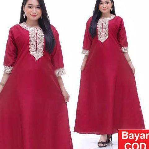 Termurah Dress Arab  Panjang lengan pendek Daster Muslimah Busui