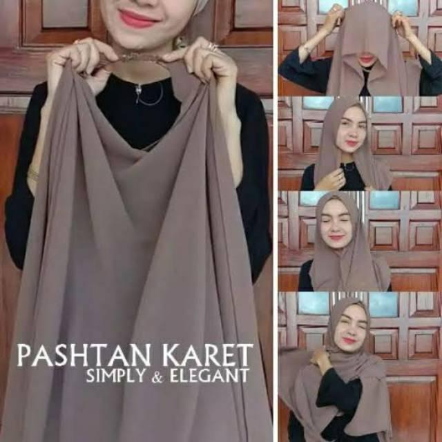Kerundung Pashmina Diamond Tali Karet Nazilla Pashmina Instan Karet Shopee Indonesia