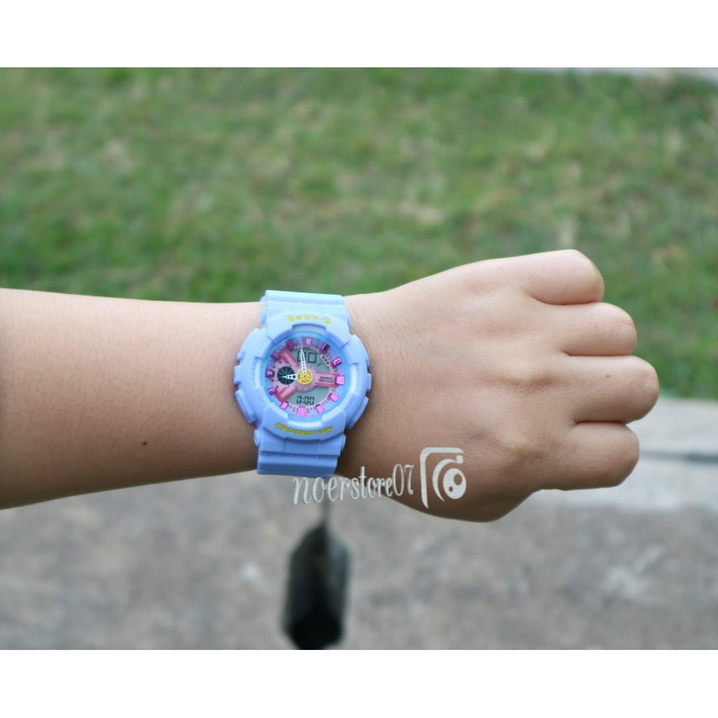 Jam Tangan Wanita Sporty Babyg Bga 180 Biru Casio Baby G Bgs 3b Putih Ba 110dc 2a1 Original Ba110dc Shopee Indonesia