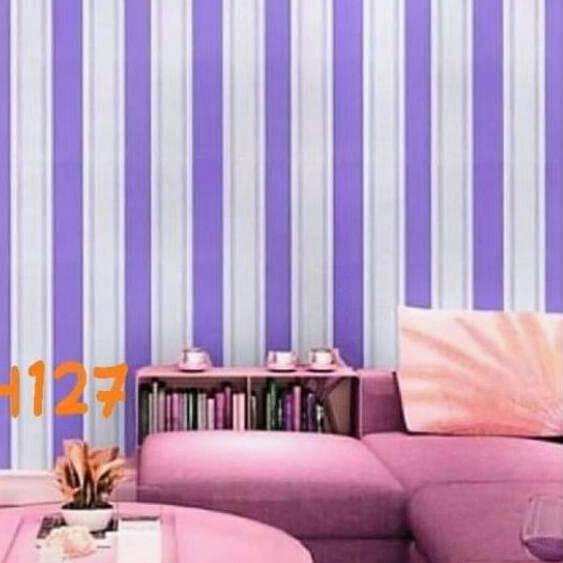 Macam Macam Wallpaper Dinding Salur Pink Hijau Biru Ungu Pelangi Warna Elegan 45cm X 10m Mksh Shopee Indonesia