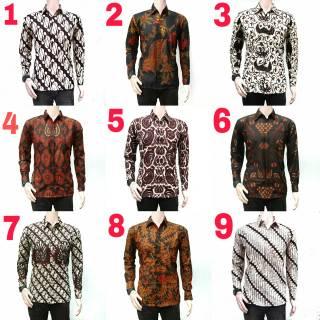 Kemeja Batik Lengan Panjang 034  Baju Pria  Kemeja Kantor  Batik Murah   Grosir Batik Pekalongan 216ef1b979