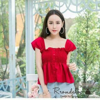 cdeeef642970f Olivia Top Import   Baju Atasan   Blouse   Baju Cewek   Baju Bangkok   BKK    Baju Murah