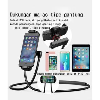 Leher-mount malas braket tablet ponsel desktop universal portabel self-timer batang ditekuk