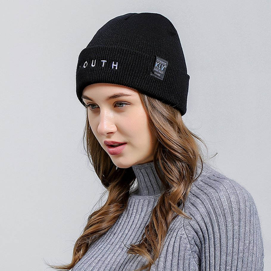 1e04264ae34 ok Women s Warm Chunky Thick Stretchy Knit Skull Cap Winter Knitting Warm  Hat