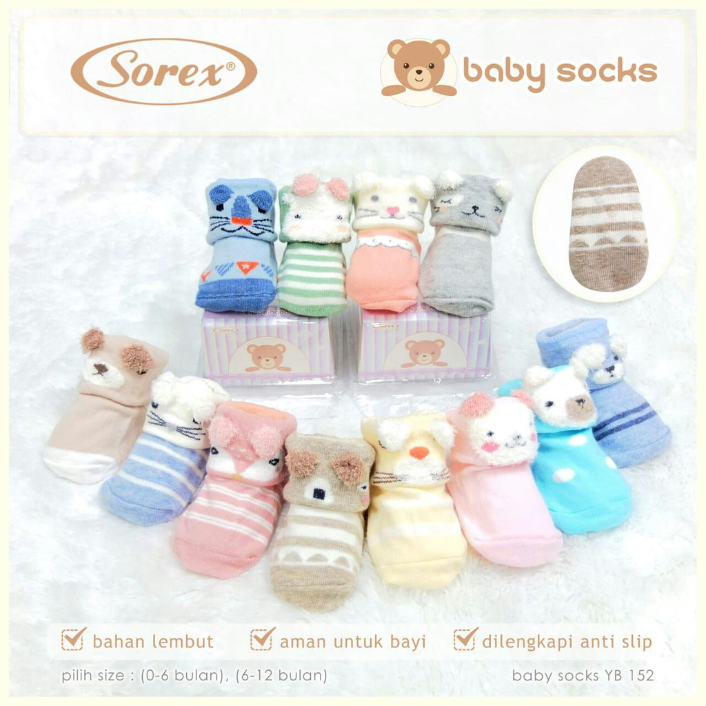 Pakaian Bayi Sorex Daftar Harga November 2018 Kaos Kaki Anak Karakter Animal Pony Kids Kid Baby Sock Socks Sepatu Art Yb152